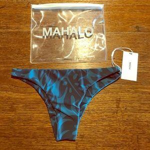 MIKOH swim Miyako bottoms blue medium